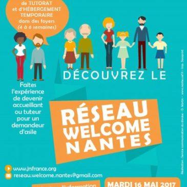 Réunion d'information – Réseau WELCOME – Un réseau de tutorat et d'hébergement temporaire – 16 mai à Nantes