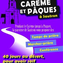 Comment vivre le Carême et Pâques avec la Paroisse de Sautron ?