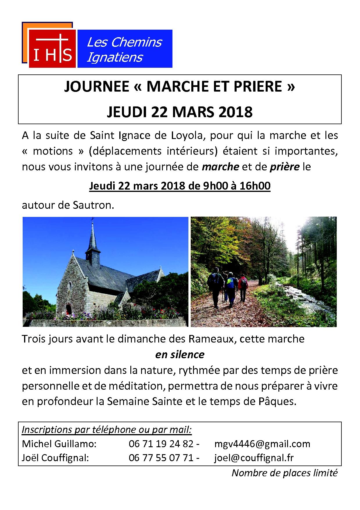 Affiche Marche et prière Sautron 2018