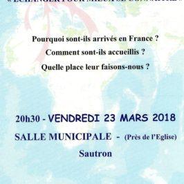 Soirée «Paroles de Migrants» le 22 Mars