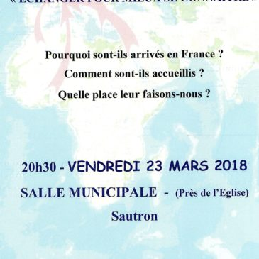 Soirée « Paroles de Migrants » le 22 Mars