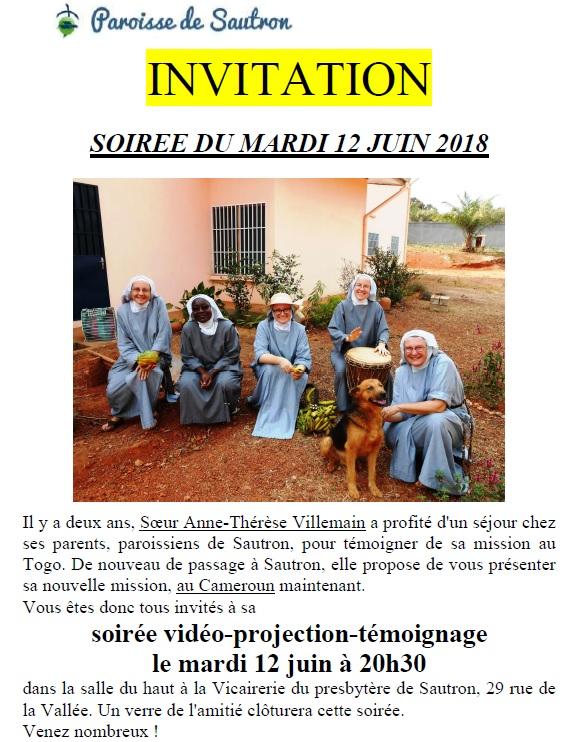 Invitation Soeur Villemain