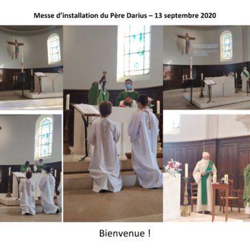 Installation du Père Darius LUTENDE