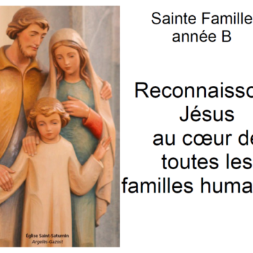 Messe du Dimanche 27 décembre – Sainte Famille