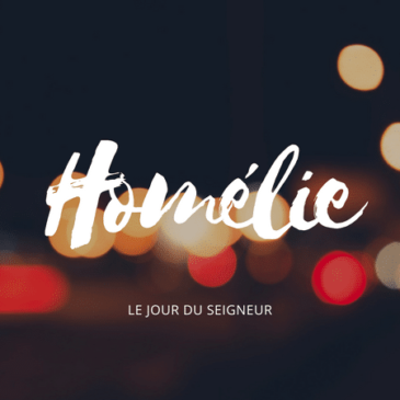 Homélie du 29 août 2021