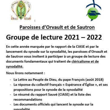 Groupe de lecture 2021 – 2022